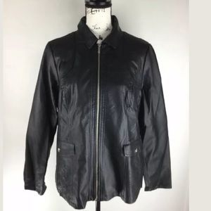 Leather Jacket by Dennis Basso